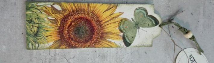 Zakładka ze słonecznikiem